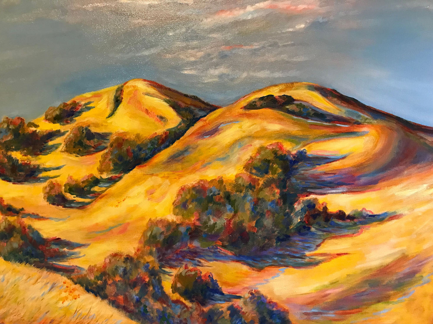 Kim Tennant Painting: Gold Hills