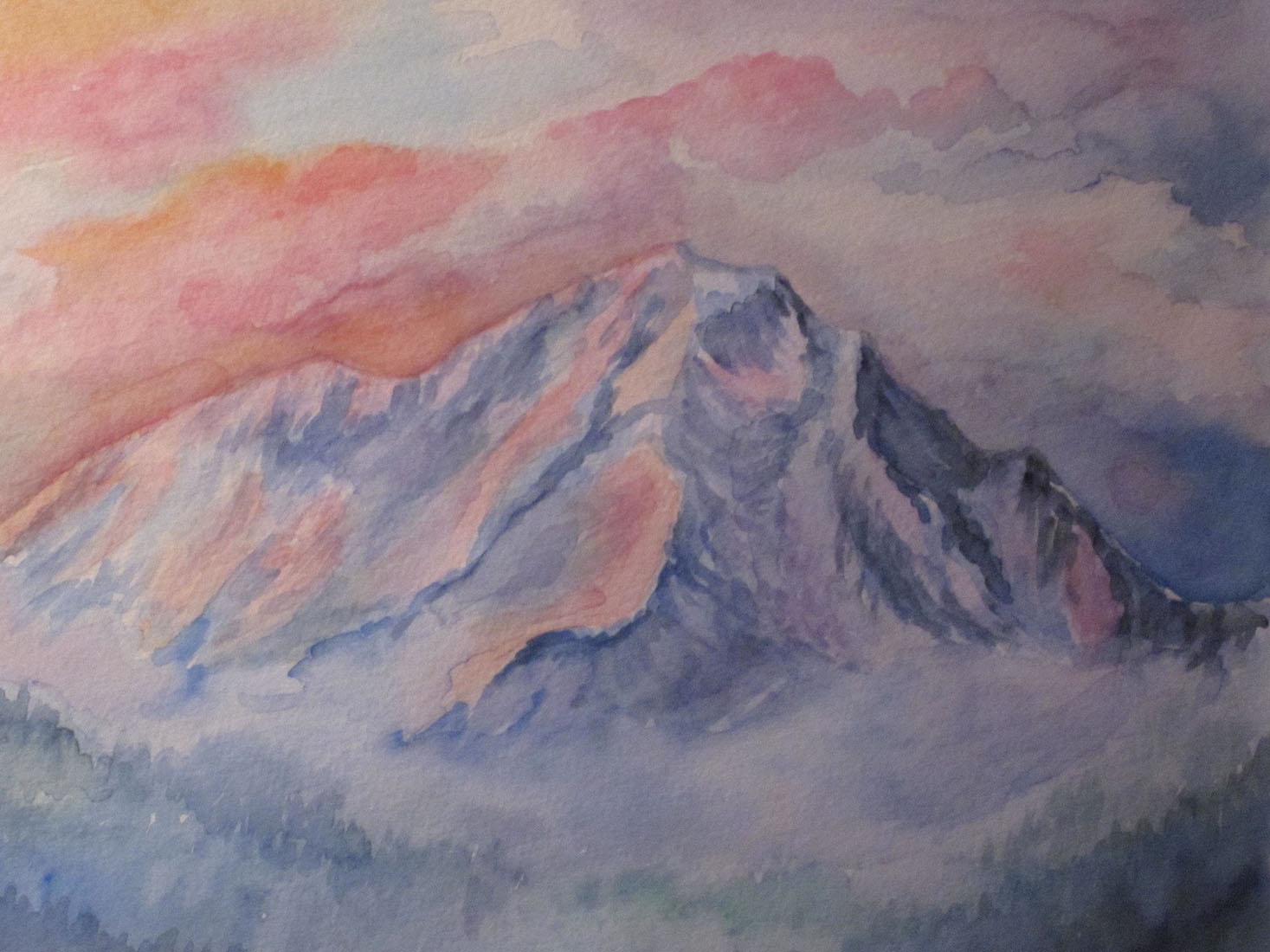 Kim Tennant Painting: Mt. Shasta
