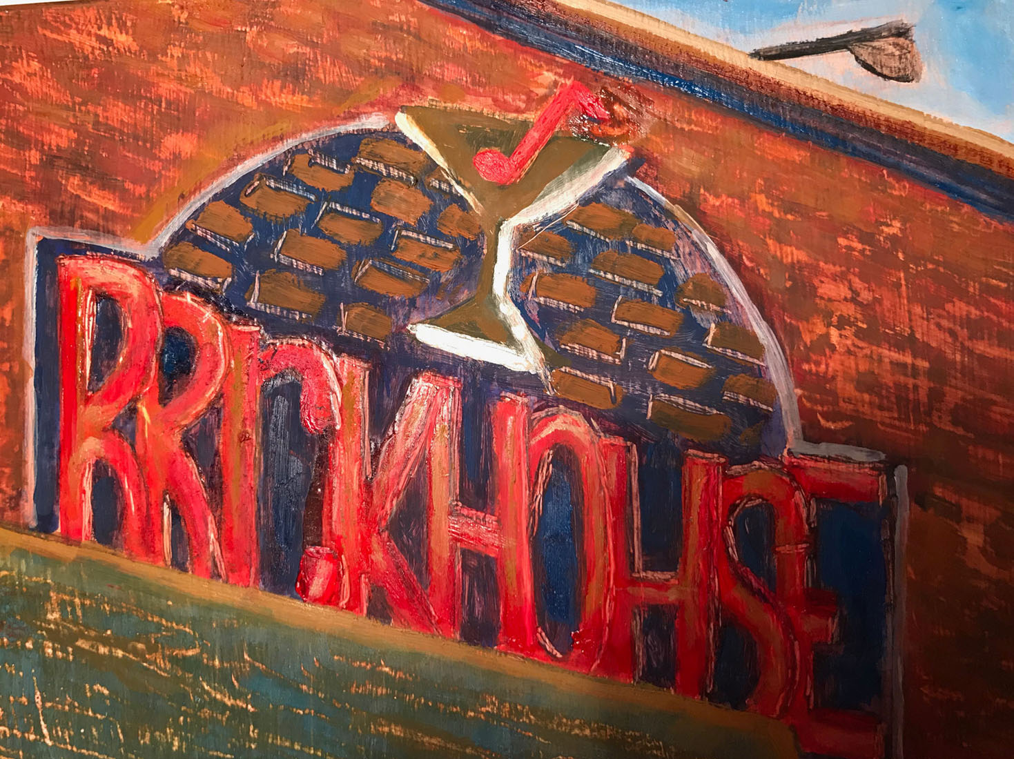 Kim Tennant Painting: Tiny Treasures - Brickhouse