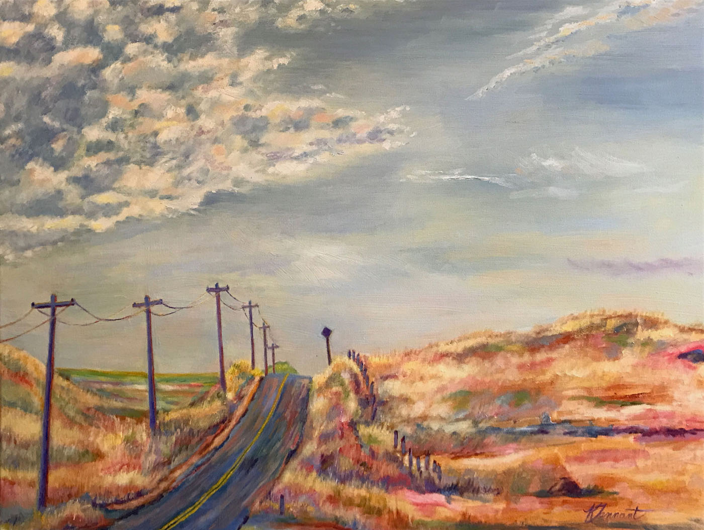 Kim Tennant Painting: Scott Road
